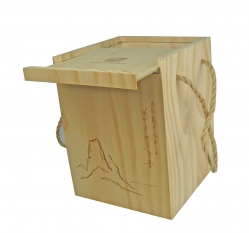Tea box with sliding lid-L