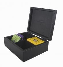 Leather wooden tea box