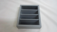 4 compartment small box no llid