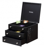 Black 3-tier Cabinet
