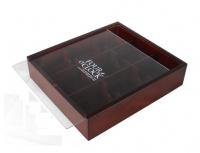 Tea box with acrylic lid