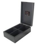 Double metal plate Black 4 comp box